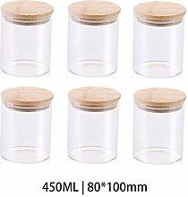 6x450ML Glass Airtight Storage Jar, Kitchen Food