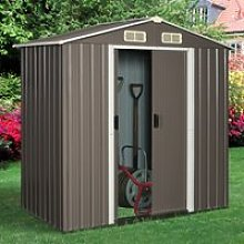 6x4ft Outsunny 8x6ft Corrugated Metal Garden Shed