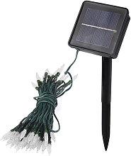 7.5m 50-LED white solar icicle light string