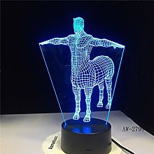 7 Colors Change Gradient Fashion Human Horse Table