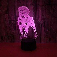 7 Colors Changing 3D Night Desk Light, Auto
