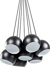 7 Light Cluster Pendant Lamp Black OLZA