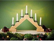 7 lights pine bridge with golden miniature pine