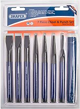 7 Piece CR-V Cold Chisel & Parallel Pin Punch Set