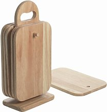 7 Piece Wood Chopping Board Set Symple Stuff