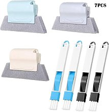 7 Pieces set Window Groove Cleaning Brush,Crevice