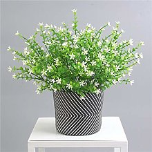 7 Prong Flower Eucalyptus Plant Fake Grass Potted