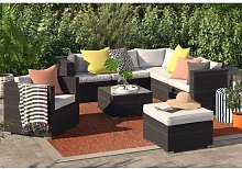 7 Seater Rattan Corner Sofa Set Sol 72 Outdoor