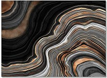 7 Style Marbling Pattern Home Rug Living Room
