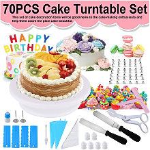 70PCS DIY Cake Turntable Set Cake Decorating