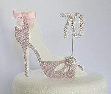 70th Birthday Cake Decoration Pink Shoe Age 70.
