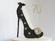 70th Birthday Cake Decoration Shoe (Star Design in