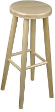 71cm Bar Stool Marlow Home Co. Colour: Varnished