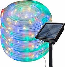 72 Ft Solar Light String Outdoor, 200 LED