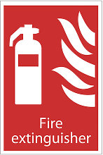 72442 Fire Extinguisher' Fire Equipment Sign -