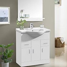750mm White Basin Vanity Unit Sink Cabinet