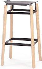 75cm Bar Stool Mobles 114 Colour: Black