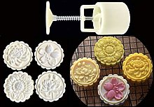 75g Mooncake Mould with 4 Flower Stamps Bakeware