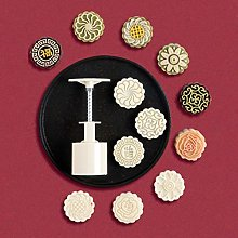 75g Mooncake Mould with 6 Flower Stamps Bakeware