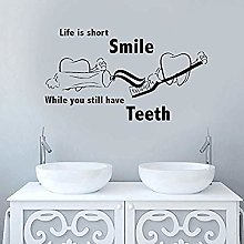 75x42cm 3D Sticker Dental Clinic Quote Dental