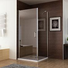 760 x 760 mm Shower Enclosure Frameless 180°