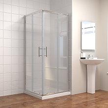760 x 760 mm Square Sliding Corner Entry Shower
