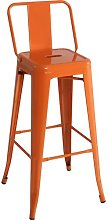 76cm Bar Stool Williston Forge Colour: Orange