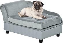 76cm Pet Sofa w/ Storage Padding Cushion Wood