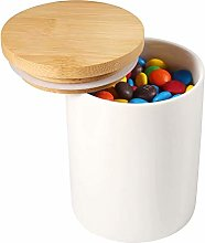 77L Ceramic Food Storage Jar with Airtight Wooden