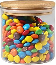 77L Glass Food Storage Jar with Wooden Lid,