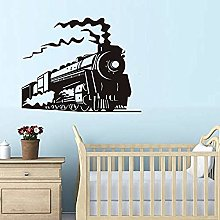 77X59cm Sticker Design Locomotive steam Train