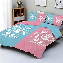 788 DRIVICO Duvet Cover Sets,Cute Icons Girls Boys