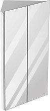 78x45cm Corner Bathroom Mirror Cabinet w/ 3