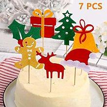 7PCS Christmas Decoration Christmas Cake Topper