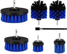 7Pcs Drill Brush Attachment Kit Power Scrubber