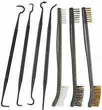 7pcs Gun Cleaning Kit, 3pcs Brushes and 4pcs Nylon