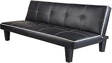 7Star Click Clack faux leather Sofa Bed Black