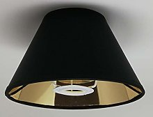 8'' Black Cone Lampshade Gold Lining Light