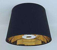 8'' Black Empire Lampshade Gold Lining