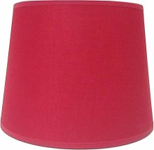 8'' Empire Red Cotton Fabric Lampshade