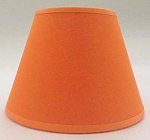 8'' Orange Cotton Fabric Lampshade Light