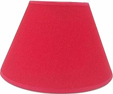 8'' Red Cotton Fabric Lampshade Light Lamp