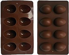 8 Cavity Easter Egg Silicone DIY Chocolate Candy