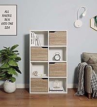8 Cube Storage Unit White Bookcase Compartment