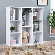 8 Cubes Storage Bookcase Display Shelving Stand