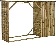 8 ft. W x 3 ft. D Flat Wooden Tool Shed by Brown -