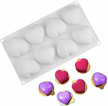 8 Heart Shape Silicone Cake Molds French Dessert