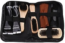 8 in 1 Practical Shoe Shine Care Kit, Black and