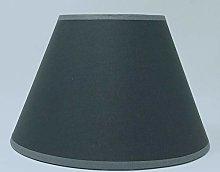 8 - Inch Dark Grey Cotton Fabric Lampshade Light