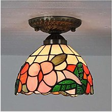 8-Inch Handmade Ceiling Chandelier Stained Glass